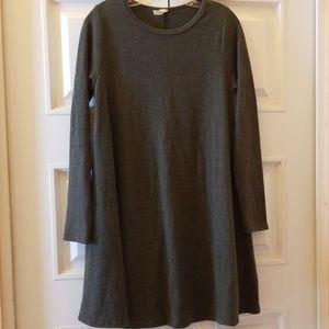 Bellamie Dress A-Line W/Pockets Olive Green Sz L